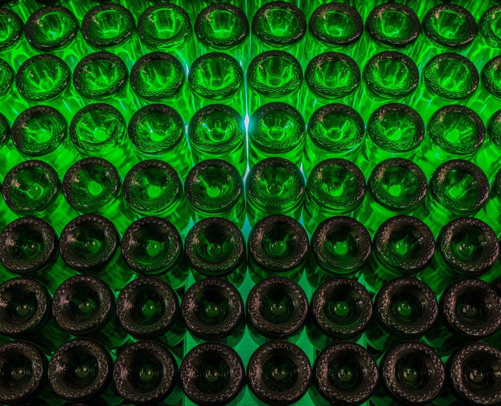 Chandon Champagne Napa bottle wall - Wandering Jokas Travel Blog