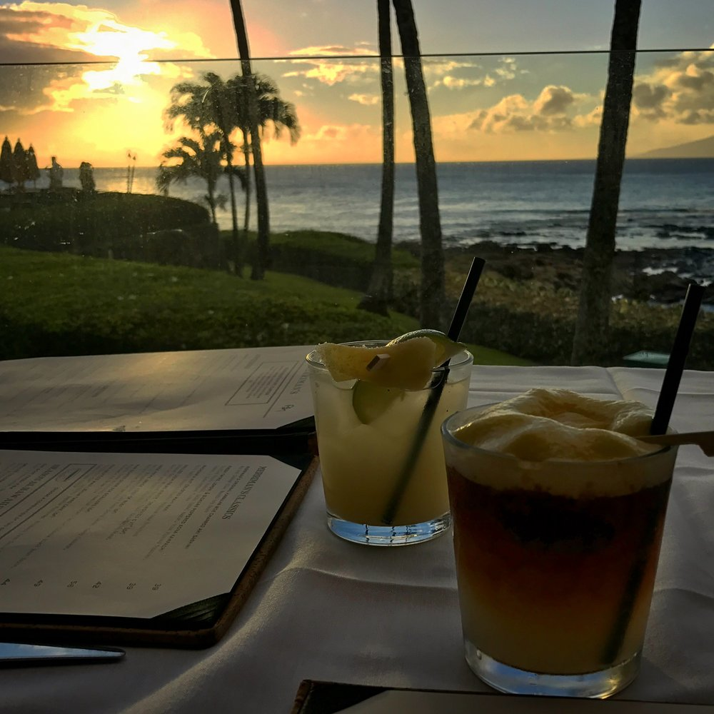 Merriman's Kapalua Sunset Drinks - Wandering Jokas Travel & Ice Cream Blog