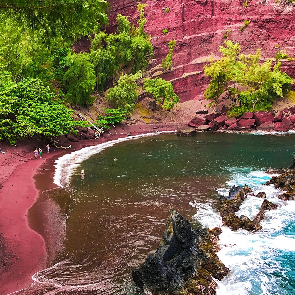 Red Sand Beach - Road to Hana Maui - Wandering Jokas Travel & Ice Cream Travel Blog