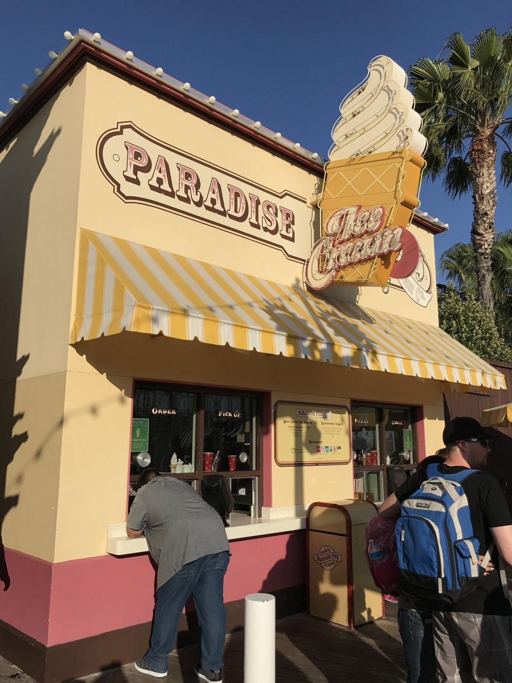 Paradise Pier Ice Cream Disneyland - Wandering Jokas Travel & Ice Cream Blog