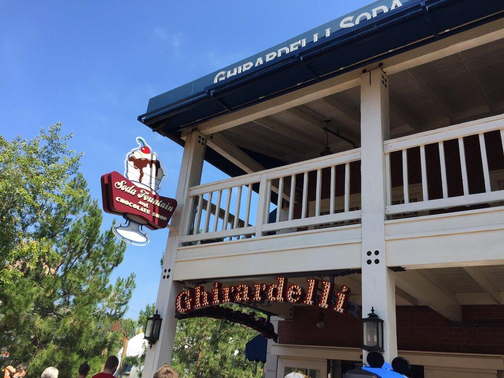 Ghirardelli Soda Fountain - California Adventure - Wandering Jokas Travel & Ice Cream Blog