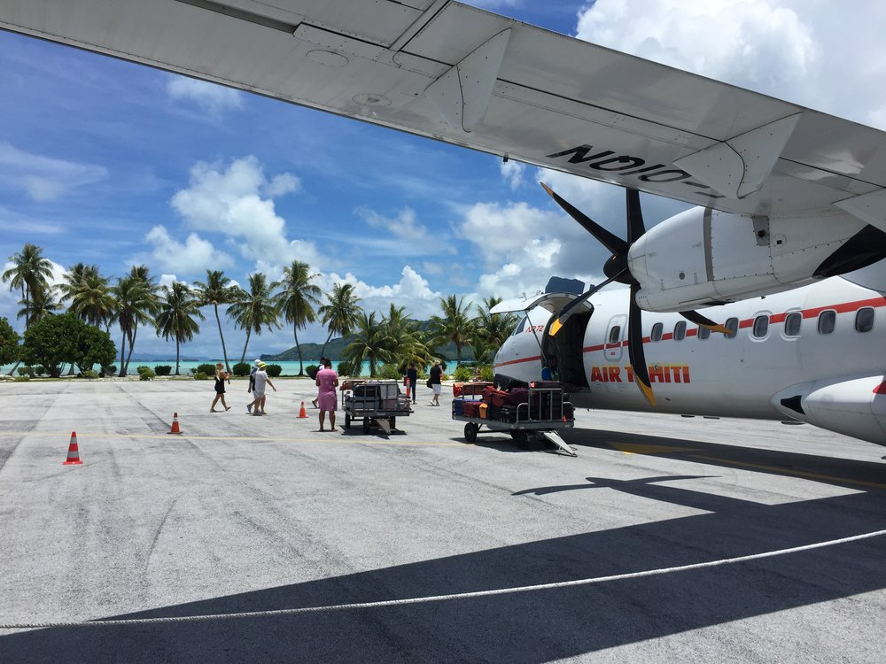 Bora Bora Airport - Air Tahiti - Wandering Jokas Travel & Ice Cream Blog
