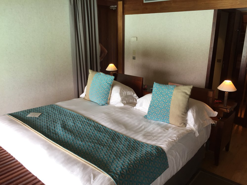 Overwater Bungalow Bedroom Bora Bora - Wandering Jokas Travel & Ice Cream Blog