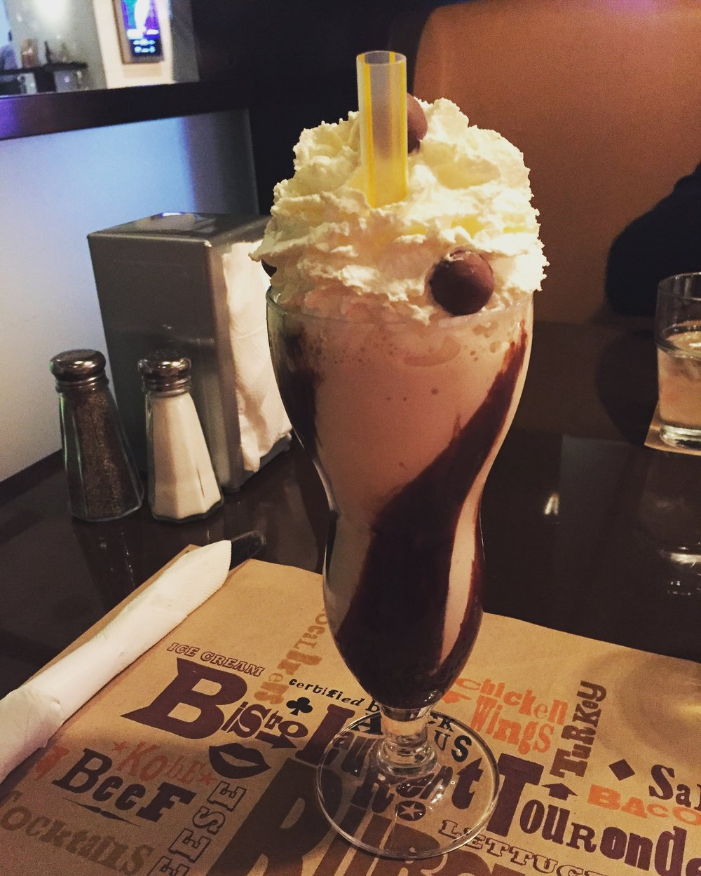 BLT Alcoholic Milkshake Las Vegas - Wandering Jokas Travel & Ice Cream Blog