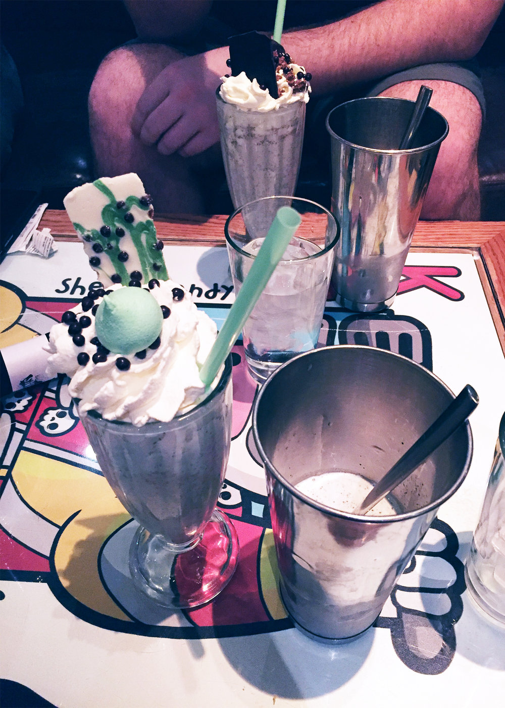 Frozen Grasshopper & Drunken Monkey Alcoholic MilkShakes