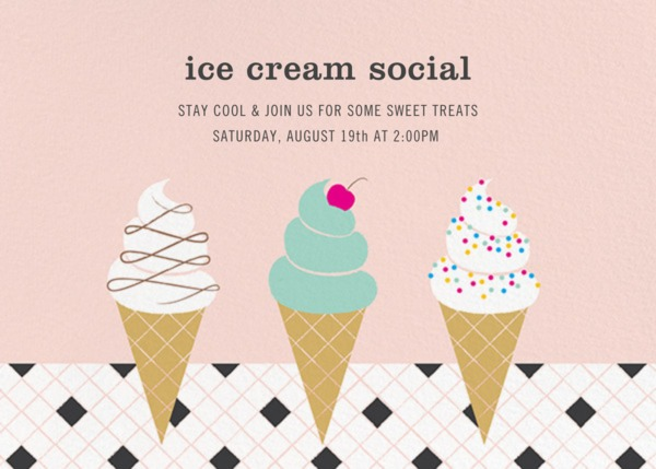 Paperless Post ice cream social invitation