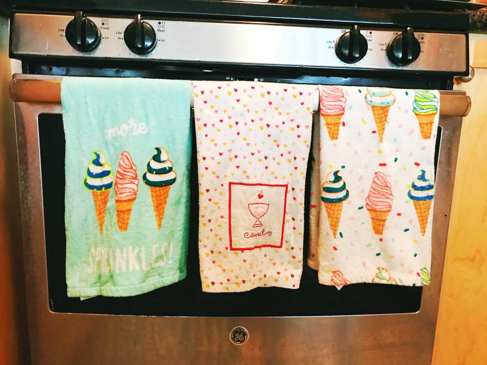 Ice Cream Towels from Target