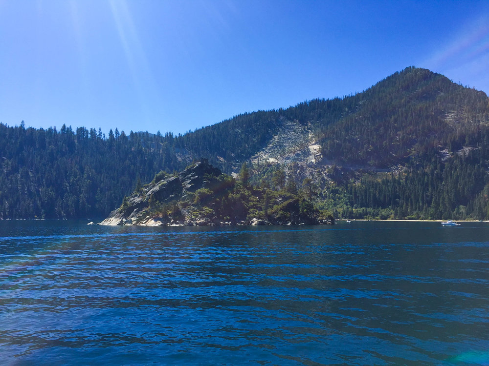 Fannette Island in Emerald Bay