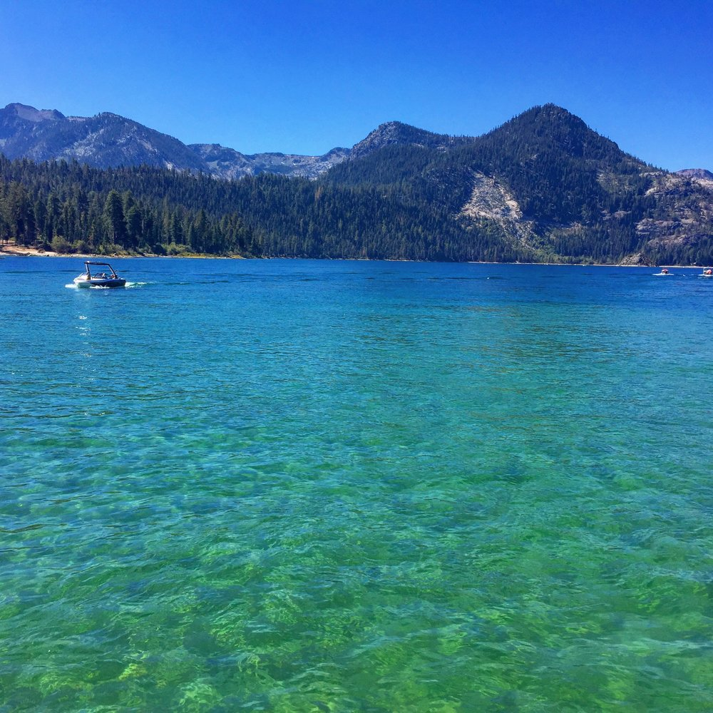 Emerald Bay living up to its name