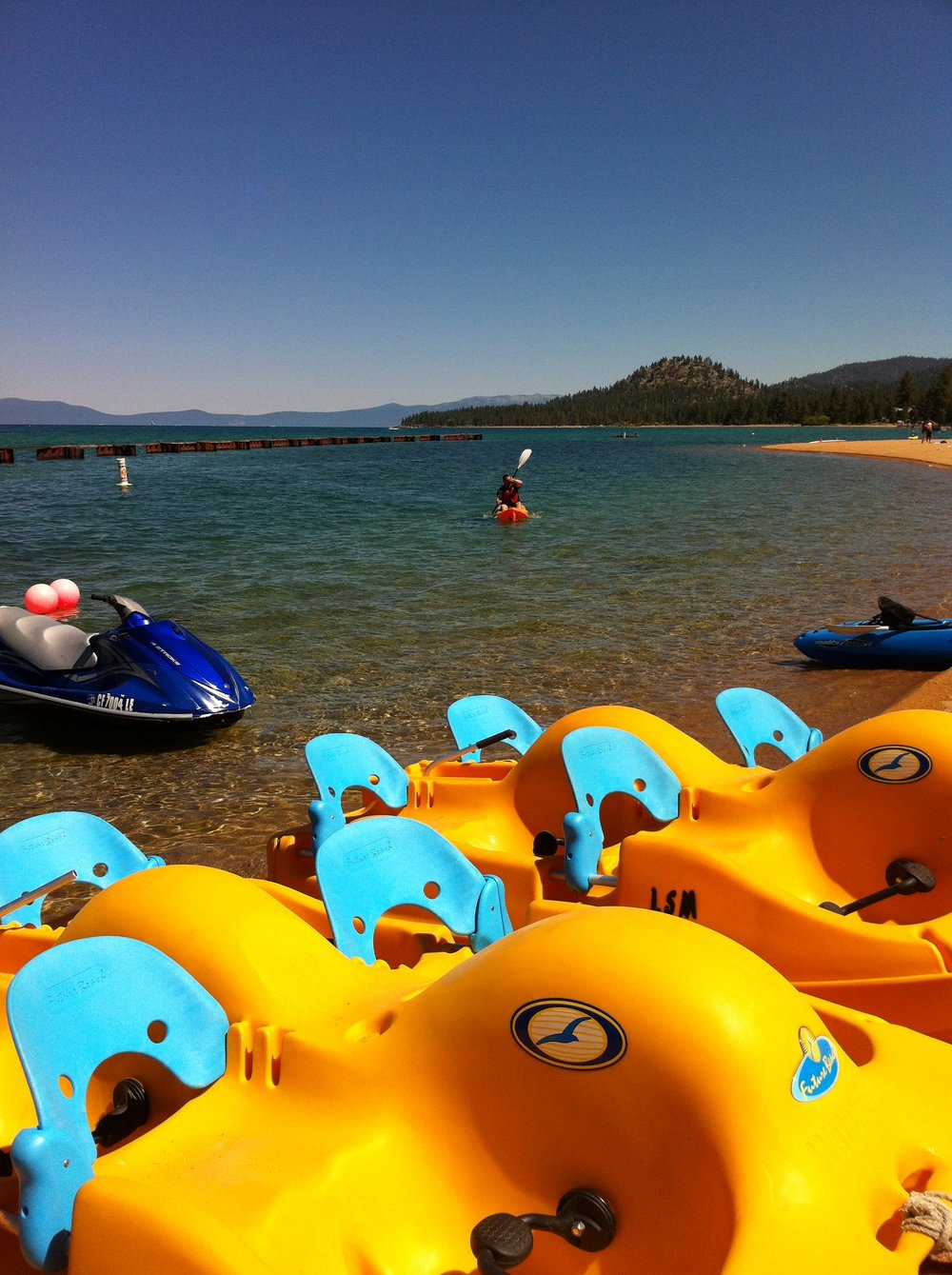 Kayak in Lake Tahoe