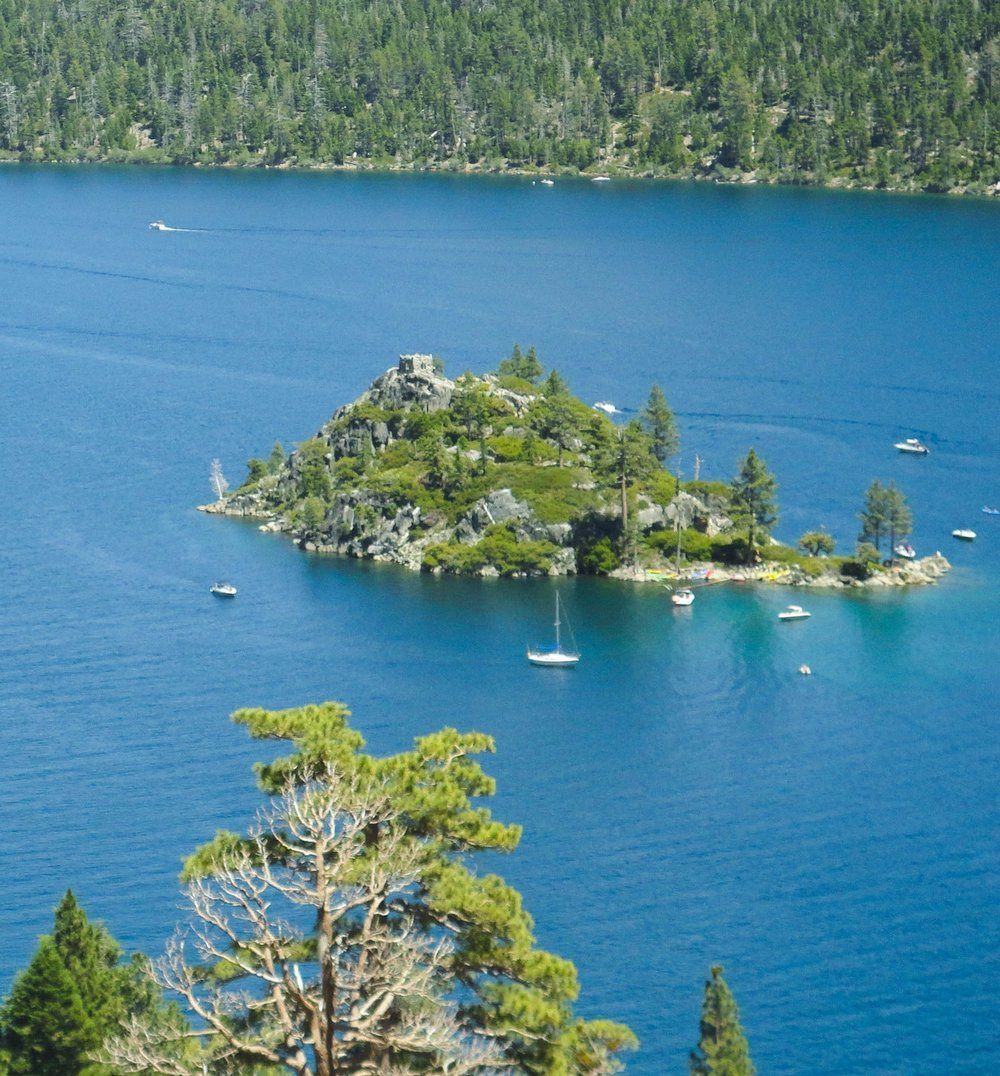 Fannette Island Tea House Castle Lake Tahoe Emerald Bay