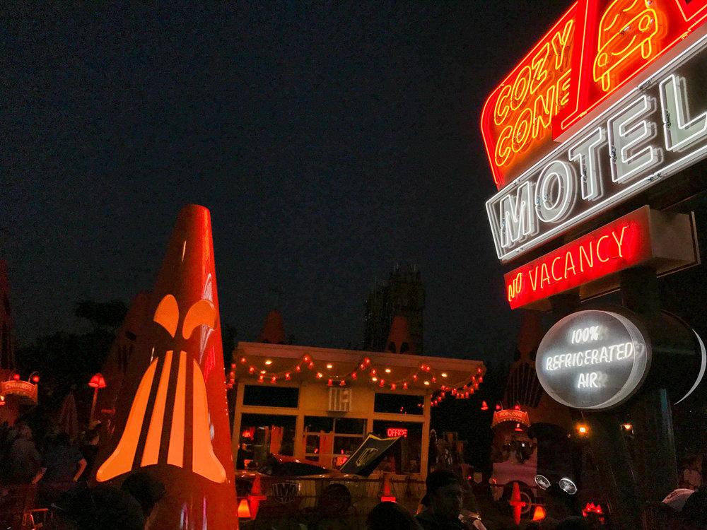 COzy Cone MOtel by Night