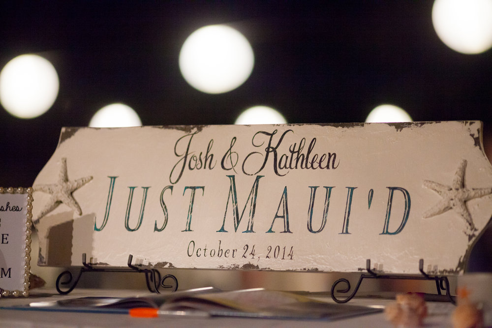 Just Married Sign for our Destination Wedding