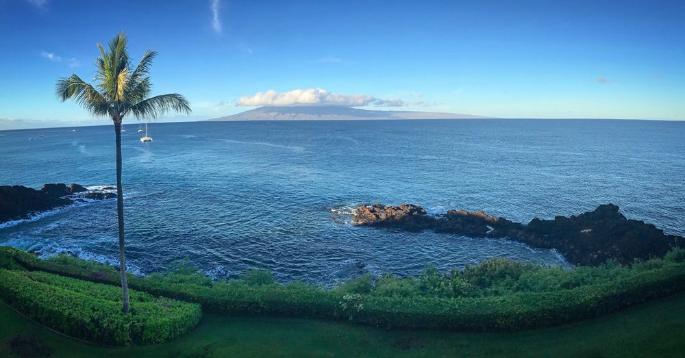 From our Balcony at the Sheraton Maui