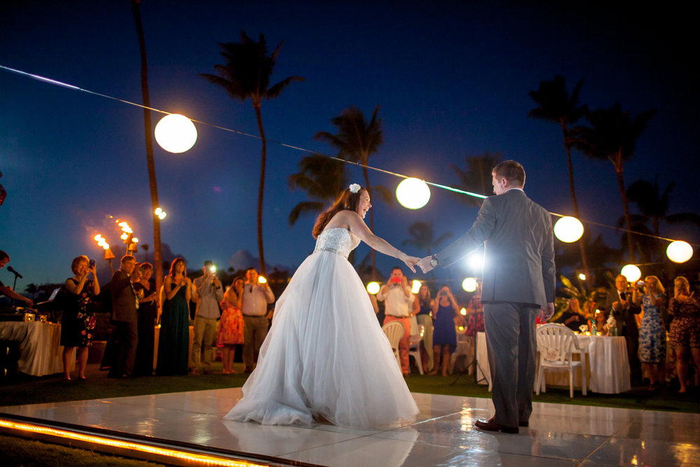 Dance Floor Wedding Maui Sheraton