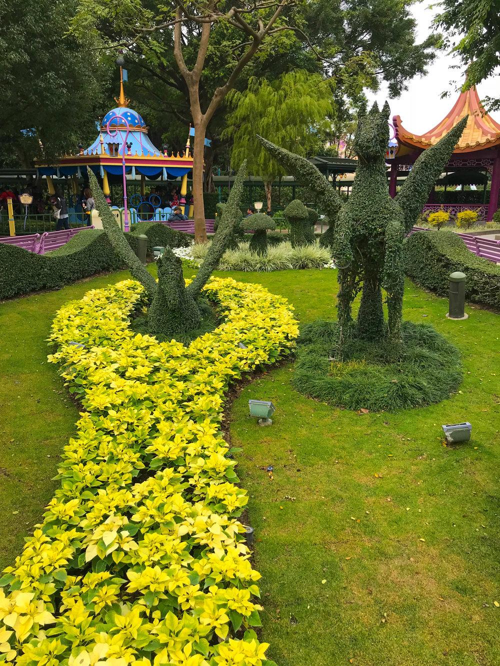 Hong Kong Disneyland Fantasyland Fantasia GardenPegasus