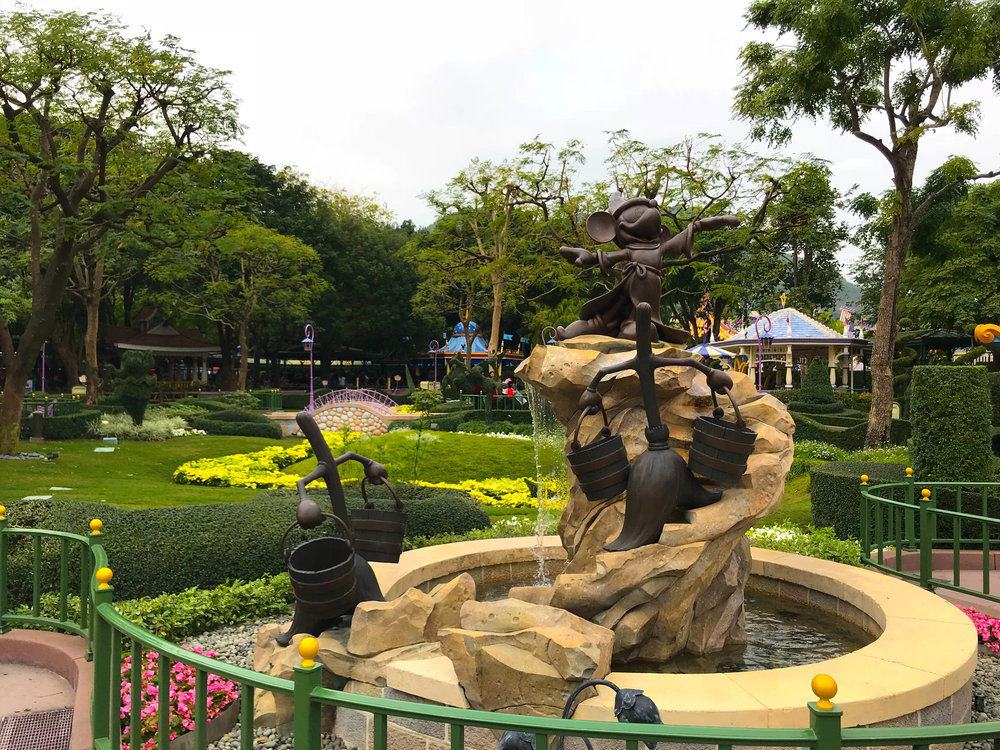 Fantasia Garden Sorcerer Mickey Fountain