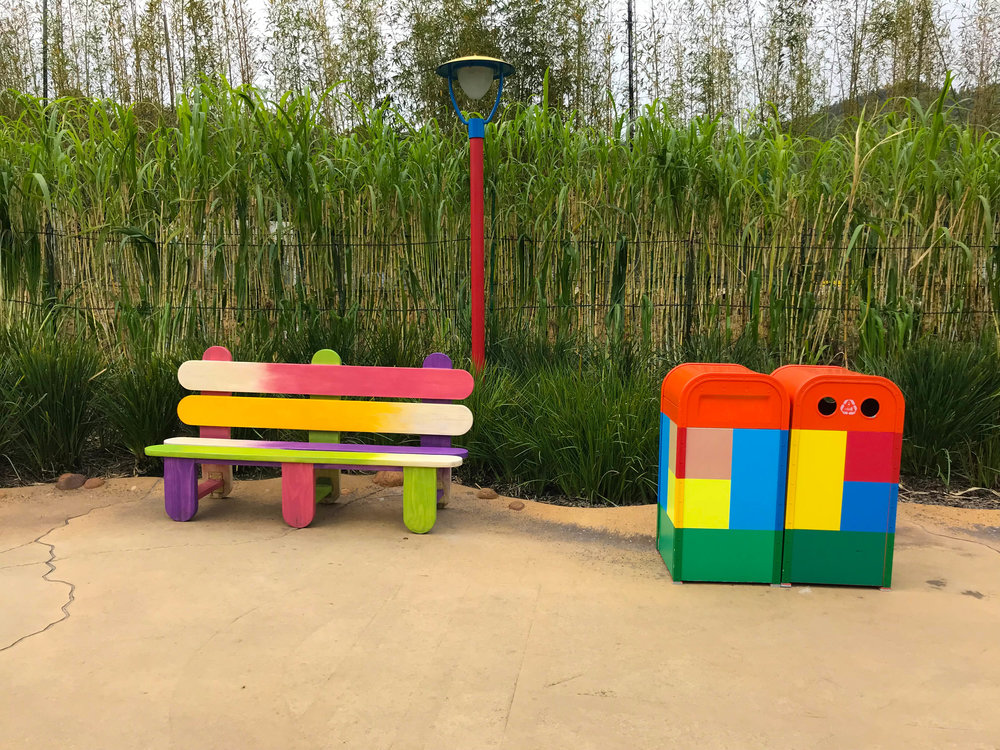 Toy Story Land Popsicle Bench