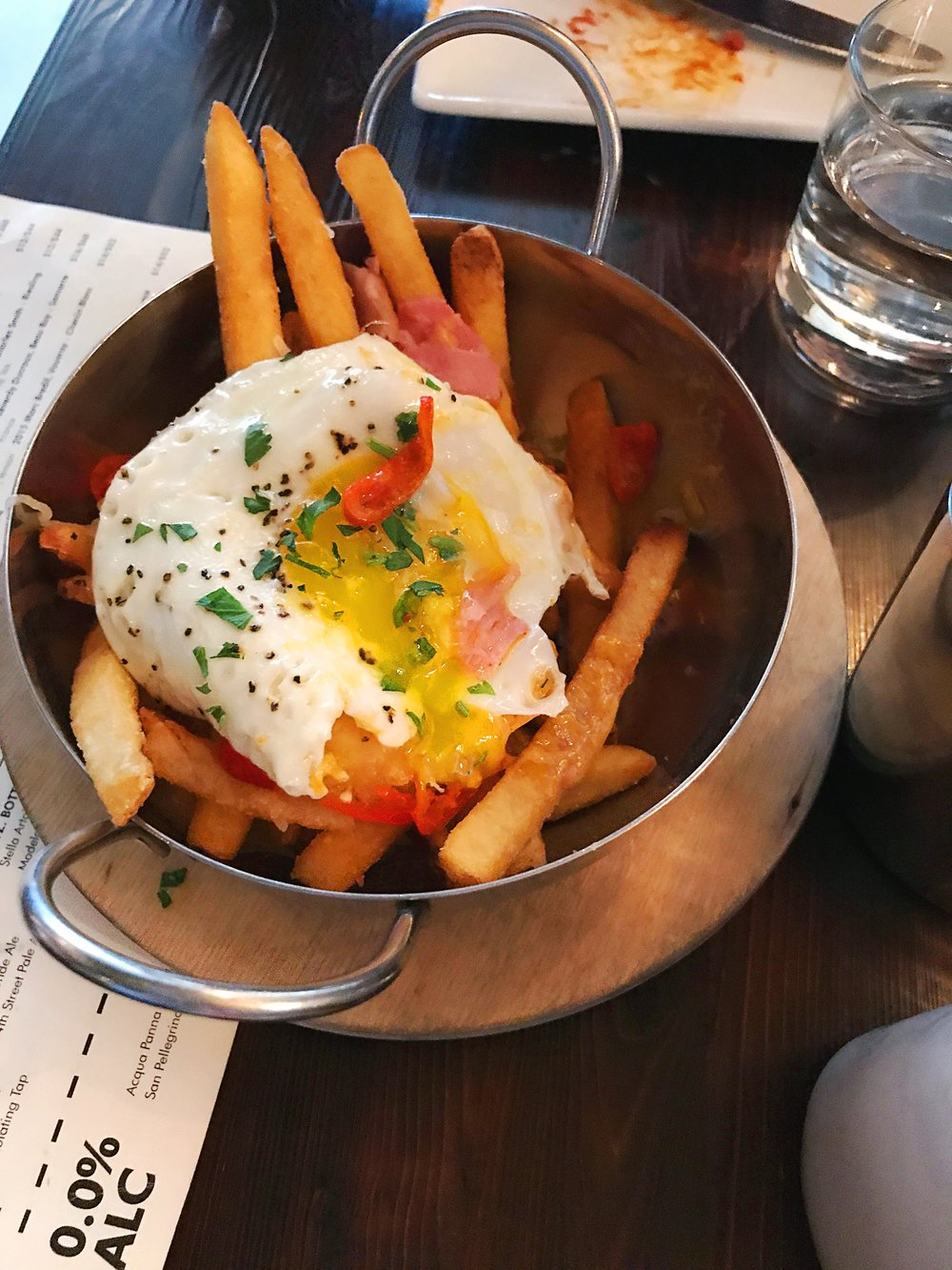 Benedict Fries at Nighthawk Breakfast Bar