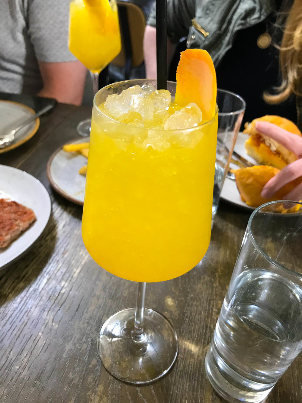 Norah Restaurant Brunch - Mimosa Spritzer | Best Brunch Restaurants in LA