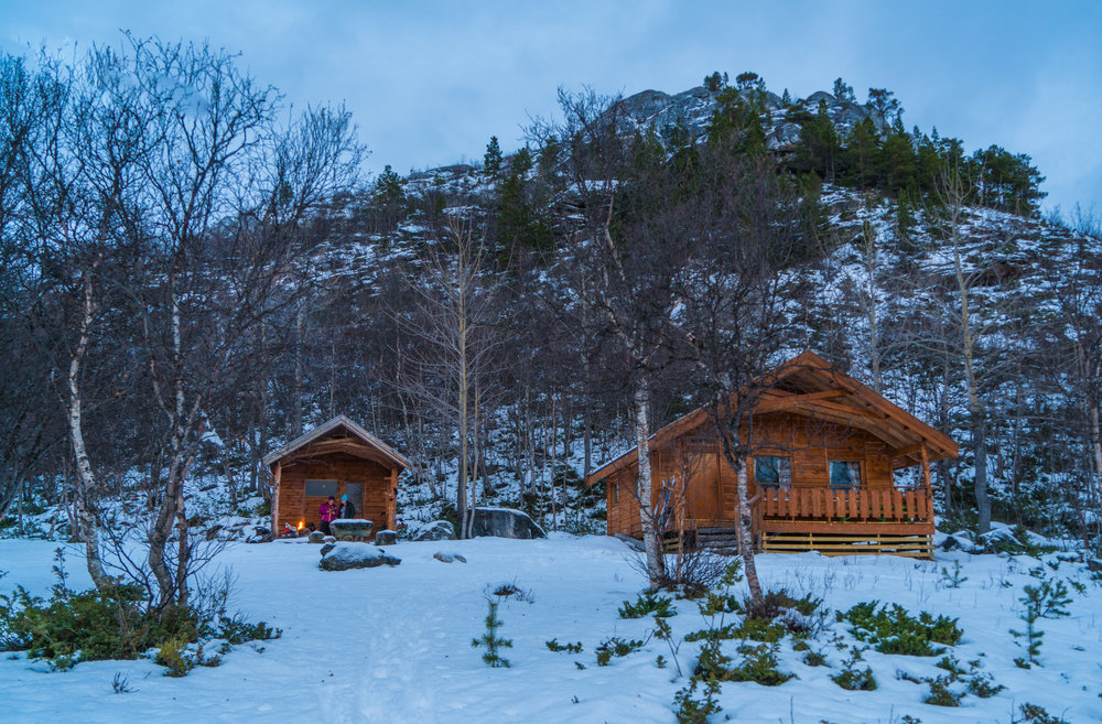 Norway cabins in the wilderness