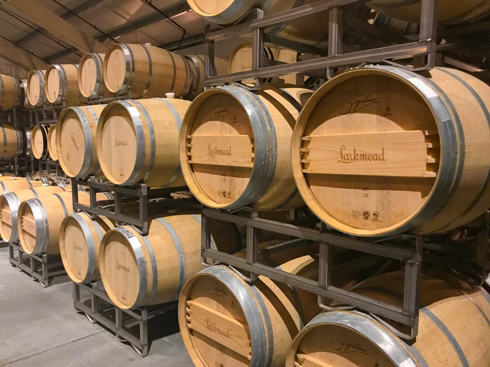 Best Wineries in Napa - Larkmead Winery Barrels