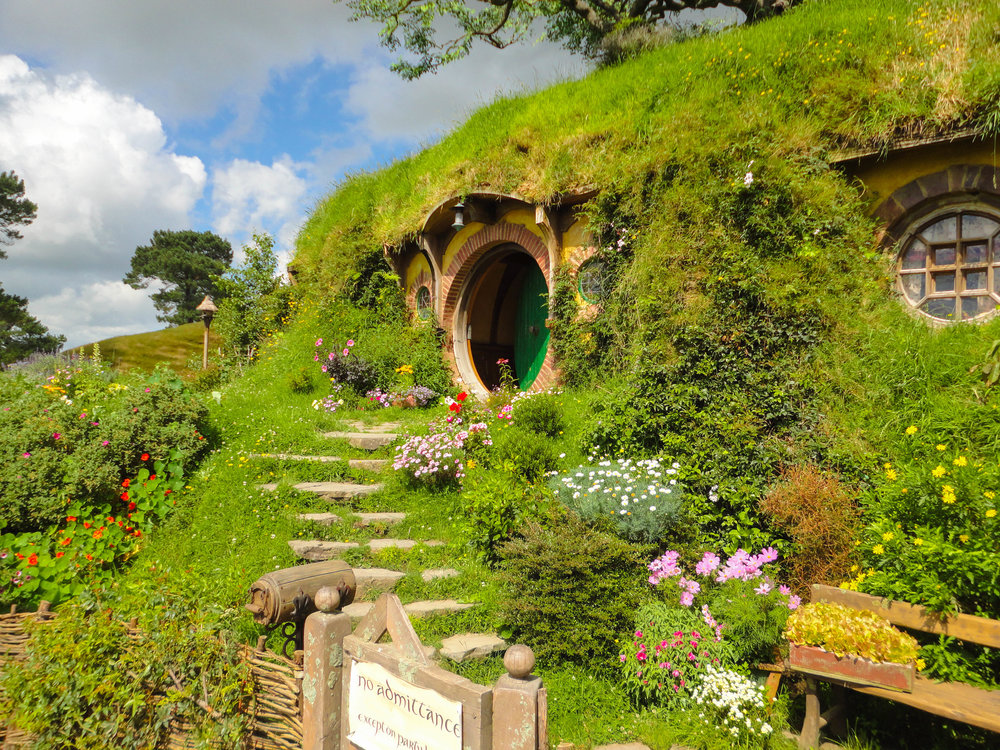 New Zealand Travel Pictures - Bilbos House in Hobbiton