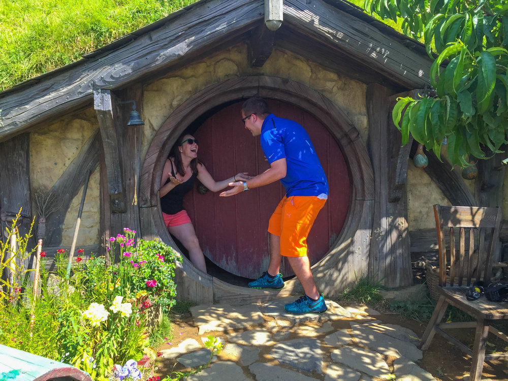 New Zealand Travel Pictures - Hobbit hole