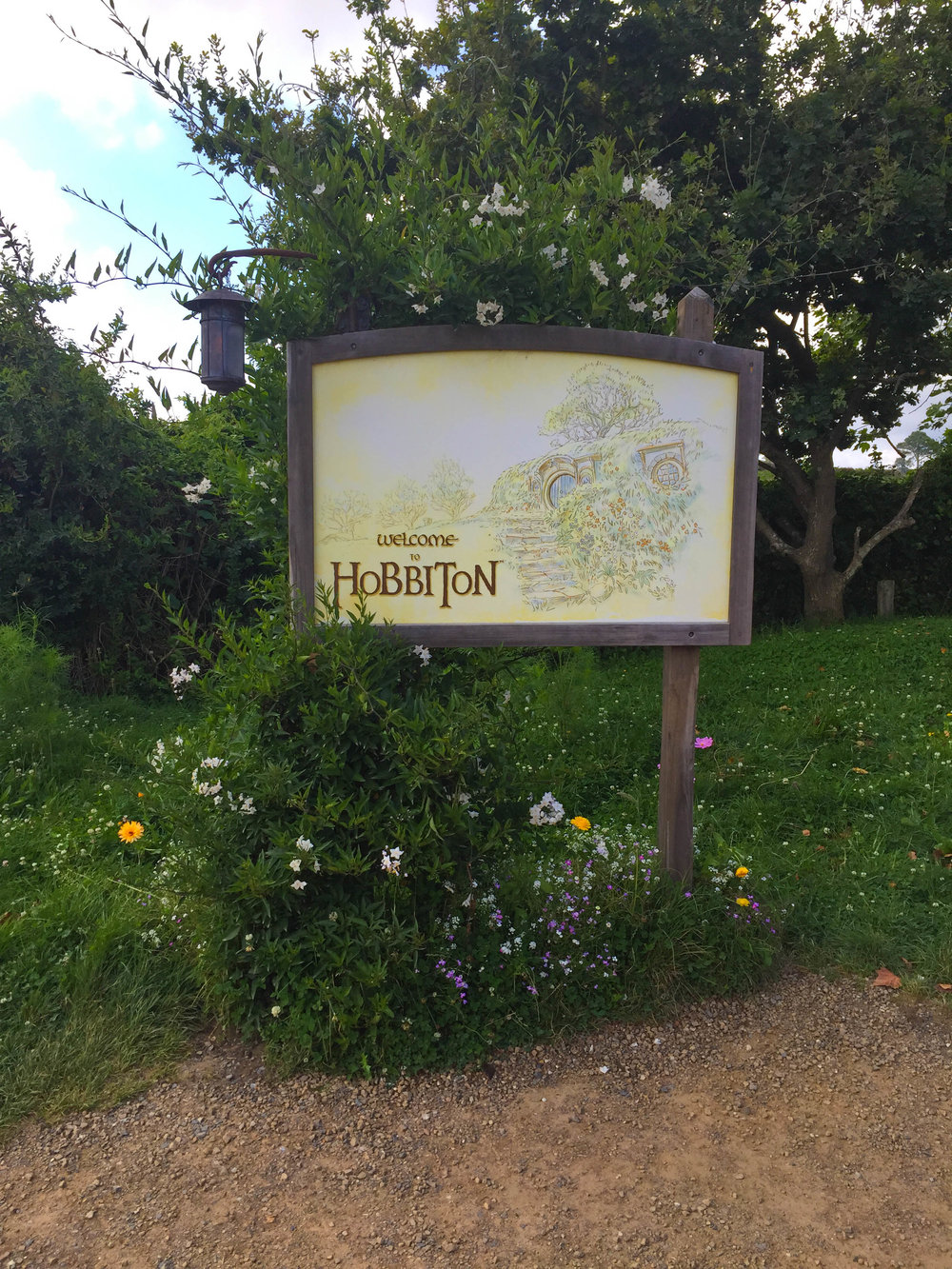 New Zealand Travel Pictures - Hobbiton Map