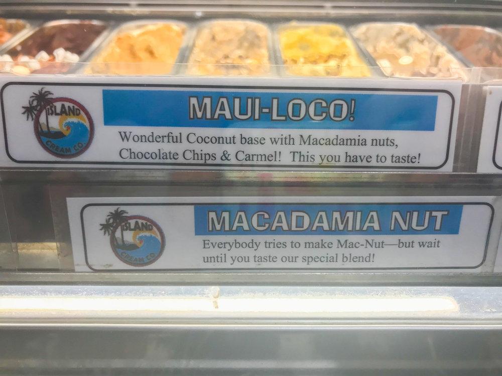 Maui Island Cream Company - Flavor