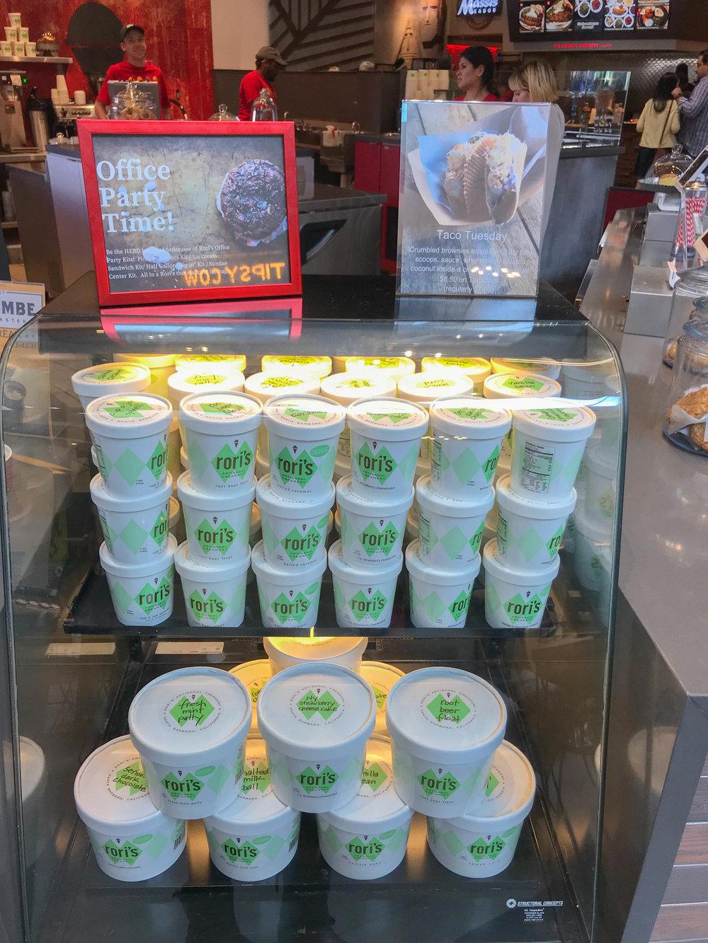 Rori's Artisanal Creamery ice cream pints