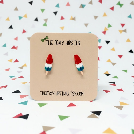 Popsicle Earrings - The Foxy Hipster only $10 on  Etsy.com
