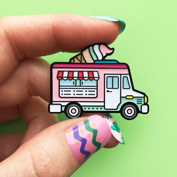 Ice Cream Truck Enamel Pin only $12 on  Etsy.com