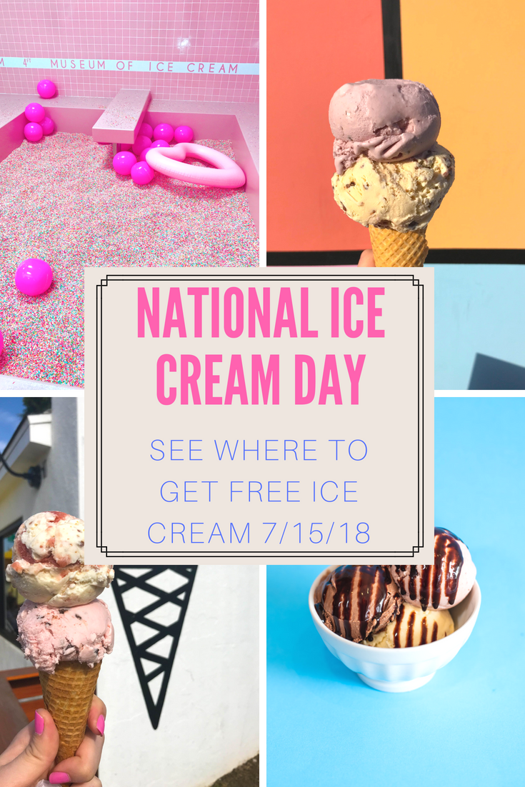 Where to celebrate National Ice Cream Day and get free ice cream July 2018
