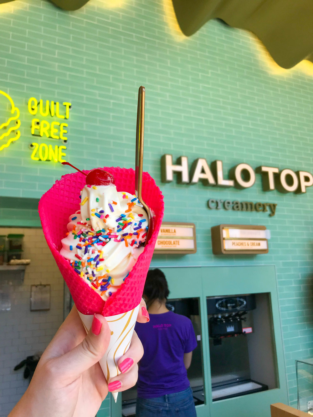 Halo Top Scoop Shop - ice cream cone