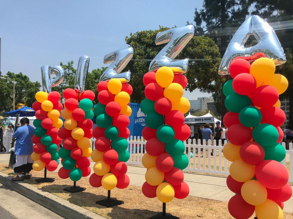 California Pizza Festival - Pizza Balloons