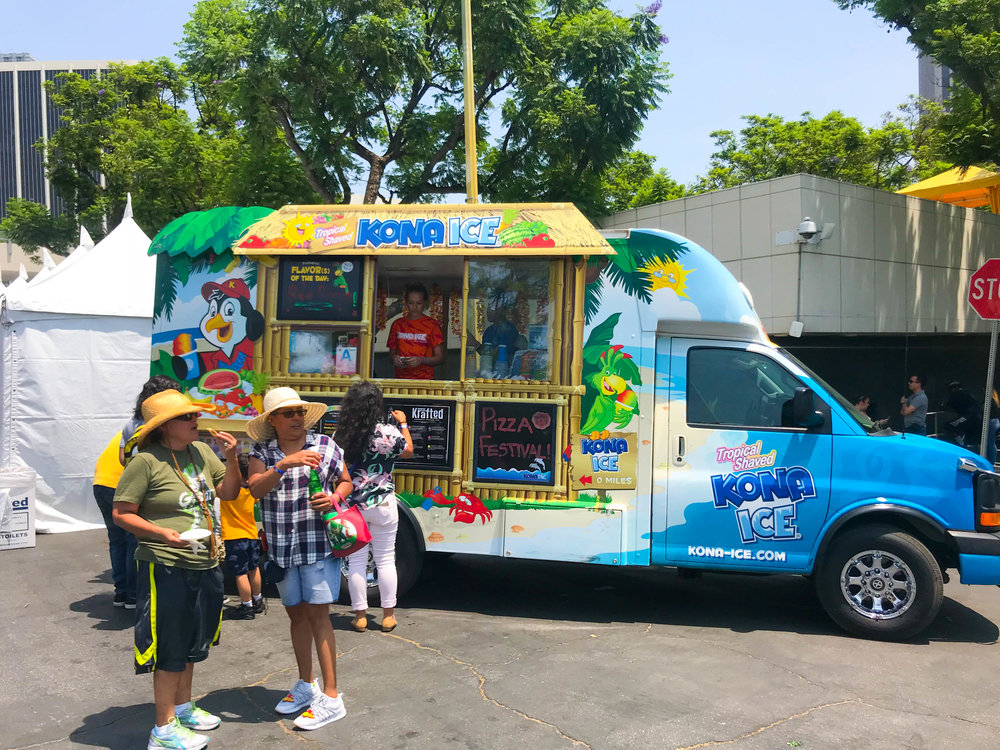 California Pizza Festival - Kona Ice Truck