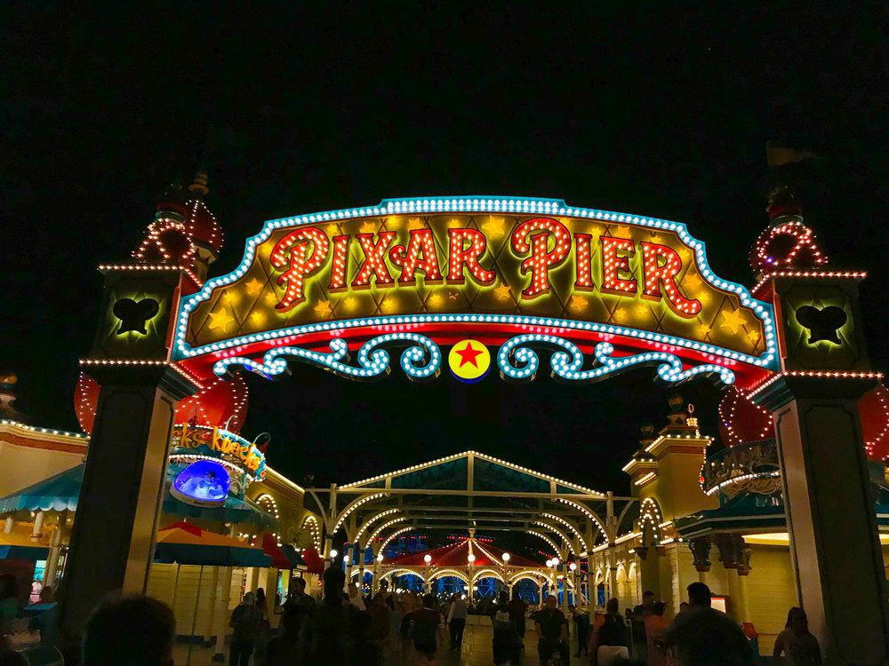 Pixar Pier ENtrance - After
