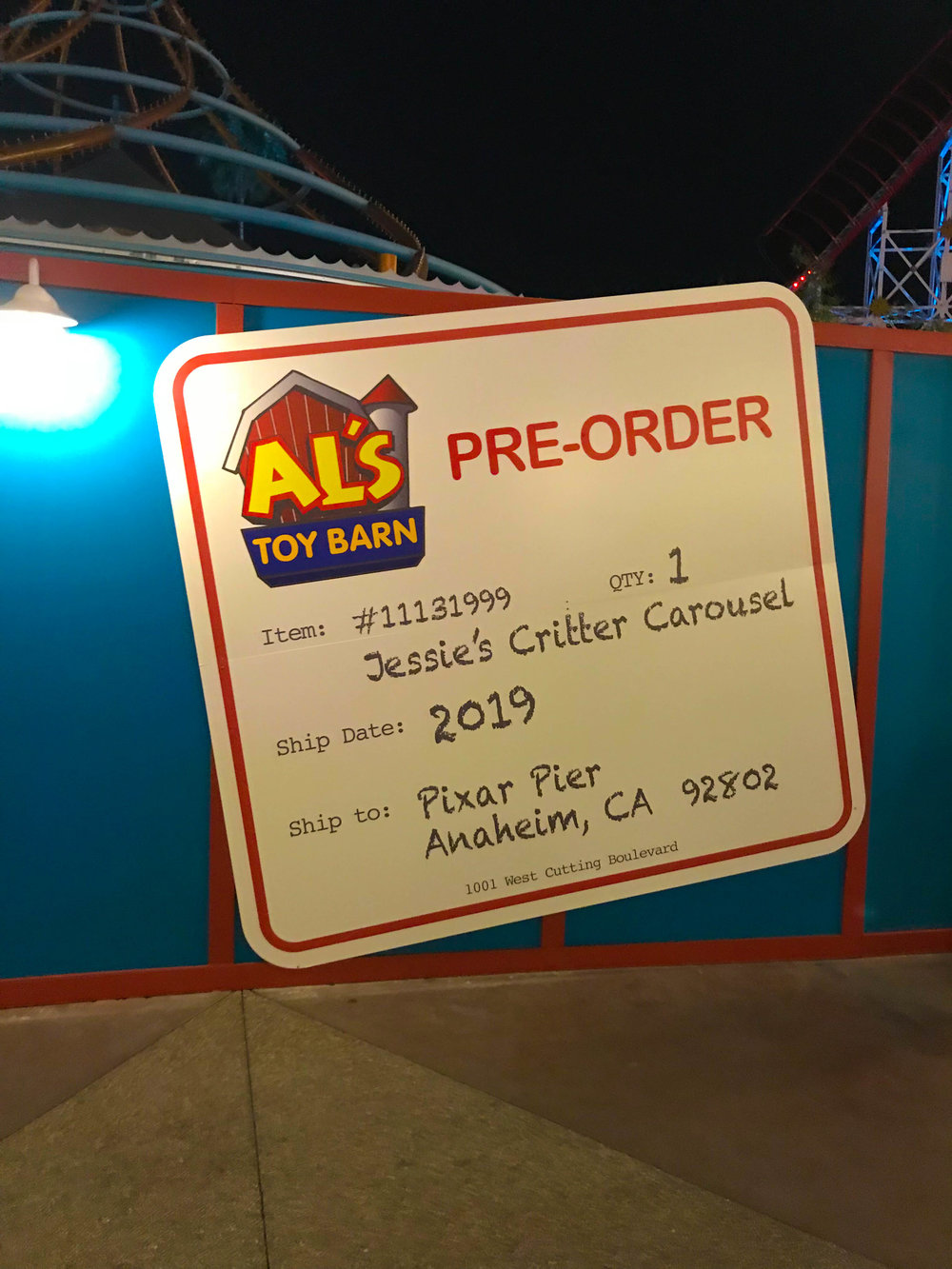 Disneyland_Pixar_Fest - Jessie's Critter Carousel Coming Soon