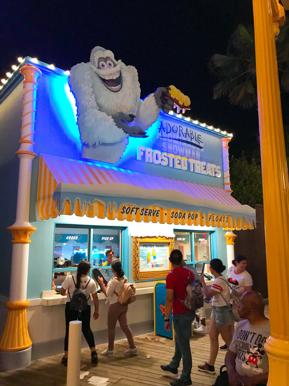 Adorable Snowman Frosted Treats on Pixar Pier - After