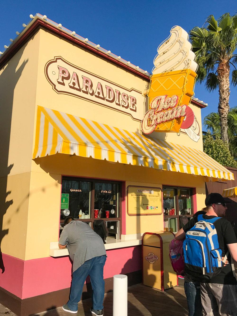 Paradise Ice Cream on Paradise Pier - Before
