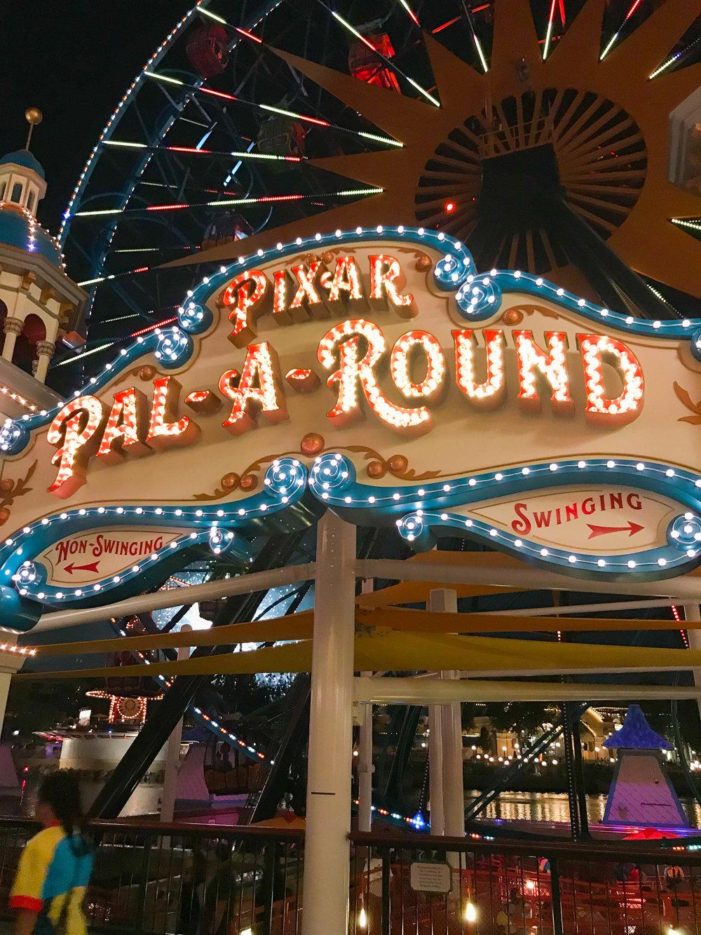 Disneyland Pixar Pier Pal-a-round Merry-go-round