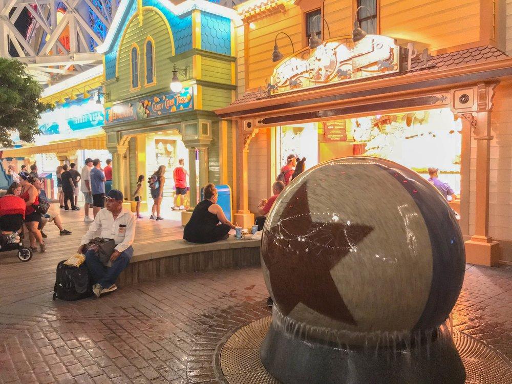 Pixar Pier New Additions - Ball Waterfall