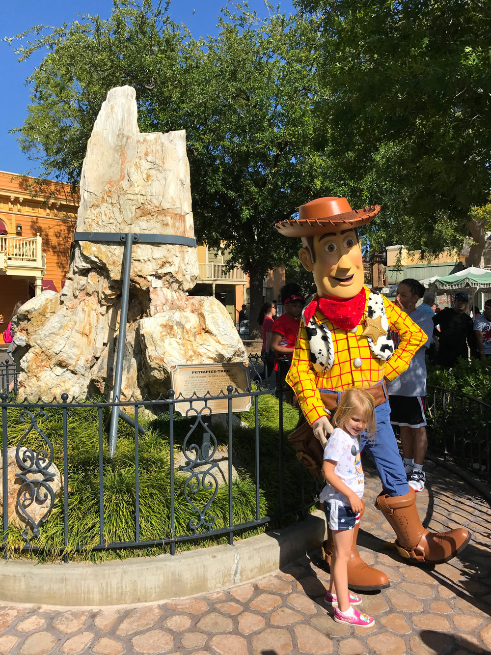 Nothing better than Woody in front of petrified wood.