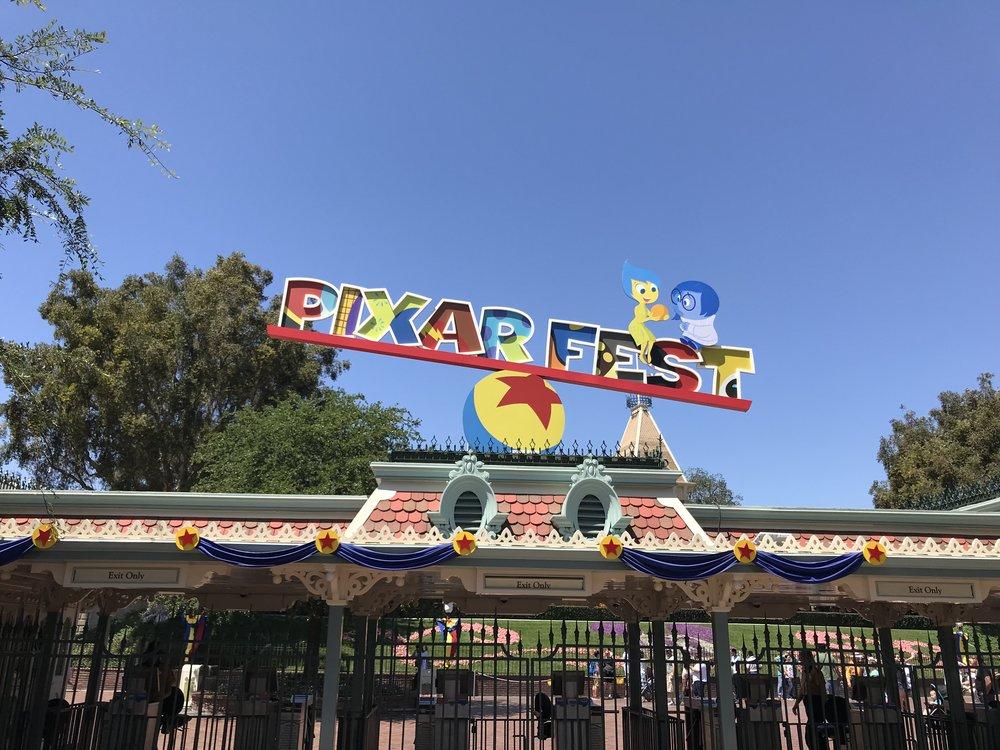 Disneyland Pixar Fest Main Entrance
