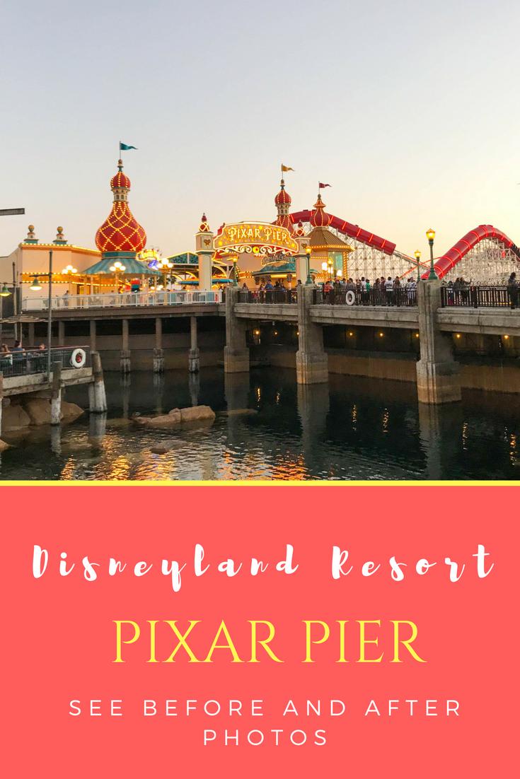 Disneyland Pixar Fest - Pixar Pier Before and After Pictures