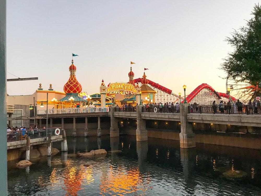 Disneyland Resort California Adventure Pixar Fest - Pixar Pier - Before and After Pictures