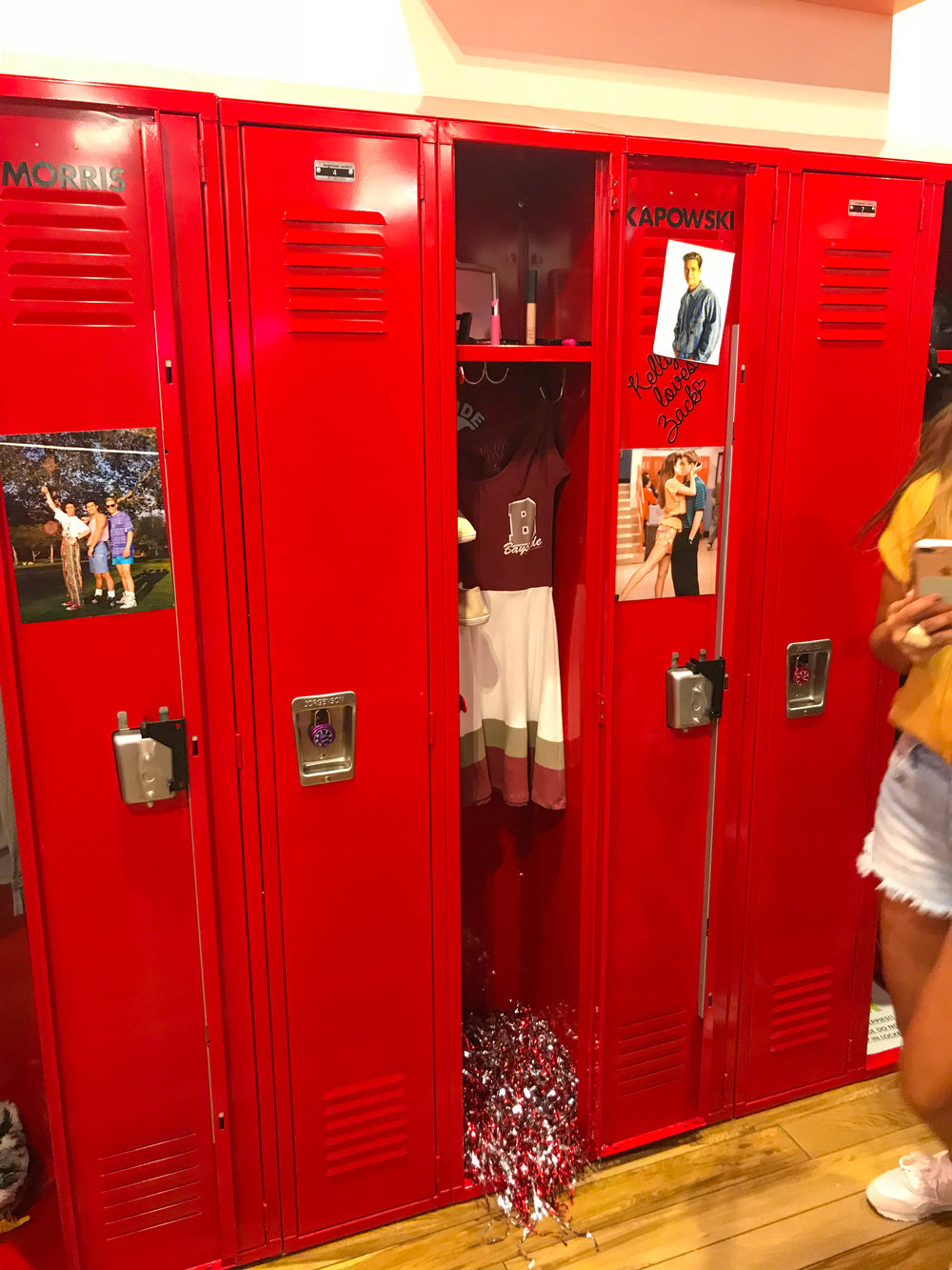 Kelly Kapowski's Locker at Saved By the Max a Saved by the Bell Pop-up in Hollywood