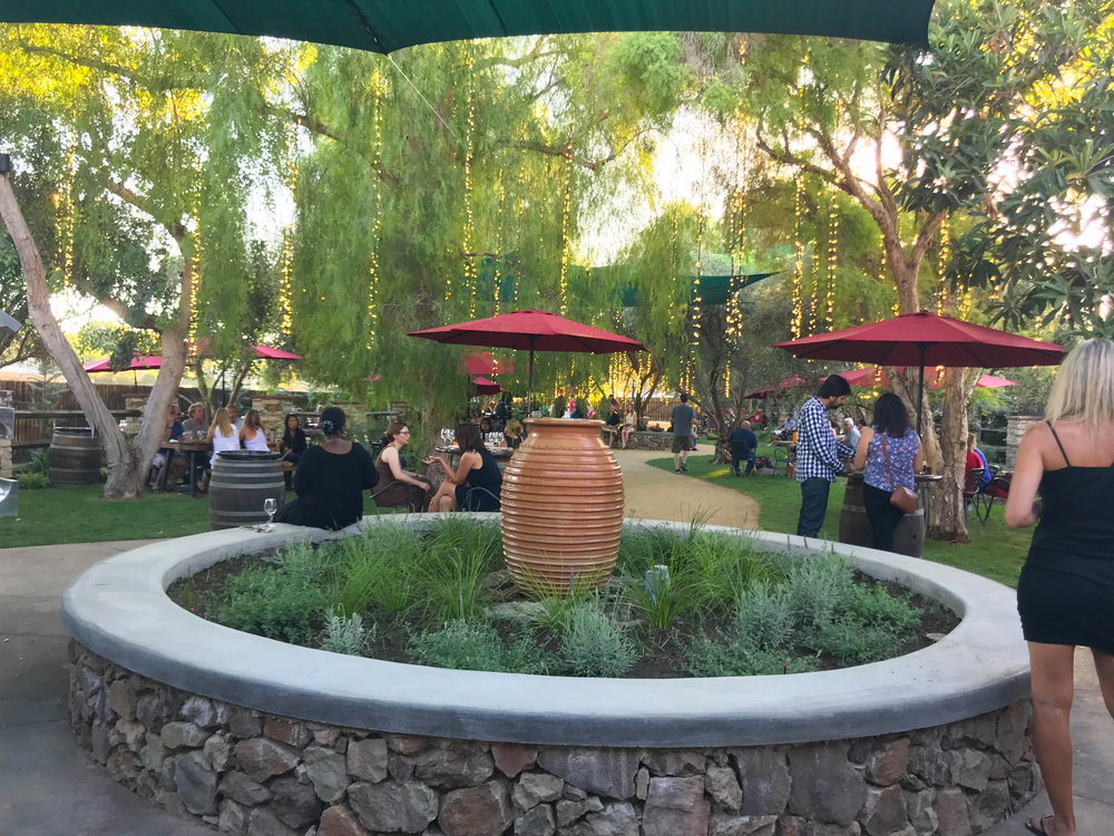 Malibu Wine and Beer Garden patio