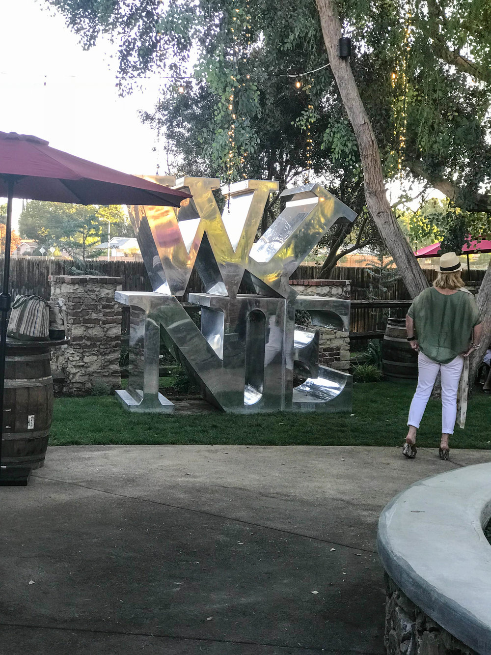 Malibu Wine and Beer Garden - Wine Sign